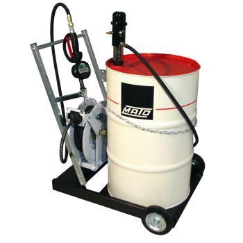 pneuMATO 3 fahrbar für 200 l Ölfässer eichfähig mi