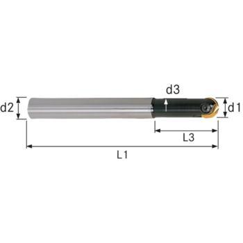 Wechselplatten-Gesenkfräser GWR 12x32x130 mm