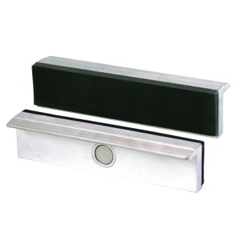 Magnet-Schraubstockbacken 140 mm Aluminium mit Gum