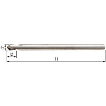 NC-Anbohrer HSSE 90 Grad 3x80 mm mit Überlänge und Zylinderschaft HA