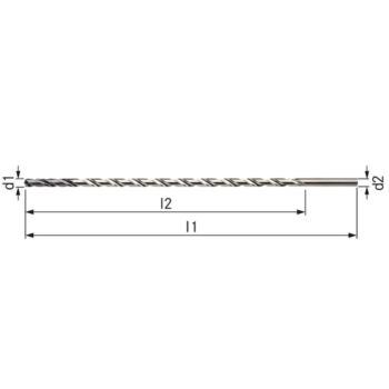 Vollhartmetall-Spiralbohrer für BT=30xD Innenkühlu ng 12,0 mm TiAlN-besch.