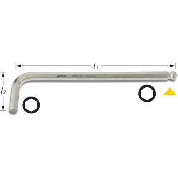 Winkelschraubendreher 2105LG-02 · s: 2 mm· Innen-Sechskant Profil