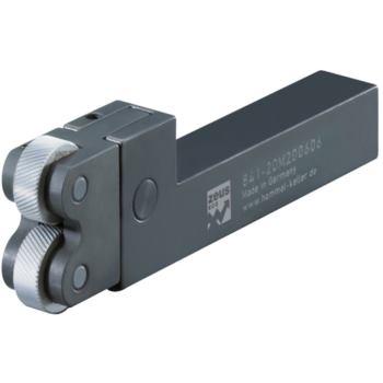 Rändelhalter Schaft 25x18 für 2 Rändel 20x8x6 mm,