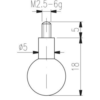 Messeinsatz Typ 19 Kugelmesseinsatz Durchmesser 7,