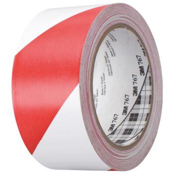 Warnmarkierungsband, Weich-PVC, rot/weiß B:50 mm x L:33 m