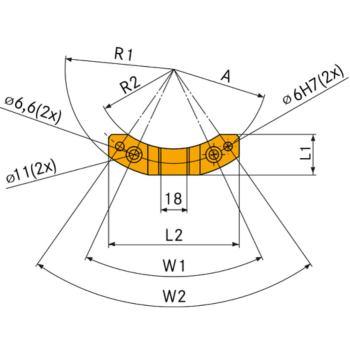 Stoppblock für A = 65 mm