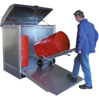 Gefahrstoff-Depot für 2 x 200l Fässer LxBxH 1437x1