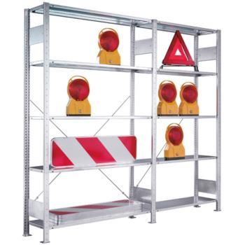 META Bürosteckregal verzinkt mit 5 Böden Anbaurega