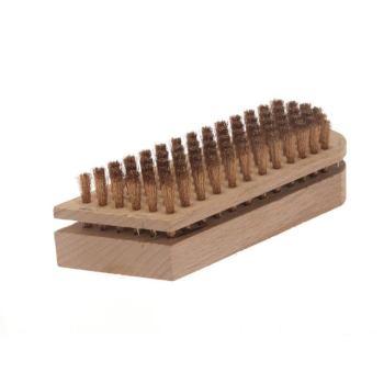 Beizbürsten 150 x 50 mm 6 rhg. Bronzedraht BRO gew. 0,15 mm hoch 15 mm