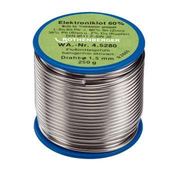 Elektroniklot, 1,5mm, 250g, Spule