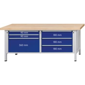 Kastenwerkbank Modell 207 VX Platte Buche-Mas