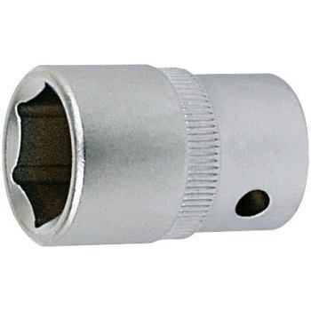 Steckschlüsseleinsatz 13 mm 1/4 Inch DIN 3124 Sech skant
