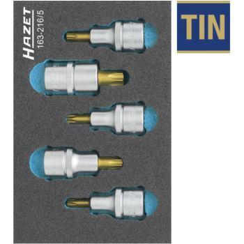 TORX® Schraubendreher-Steckschlüsseleinsatz-Satz,163-216/5
