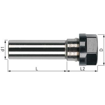 Spannfutter-Verlängerung ER 25 - 20x100 mm