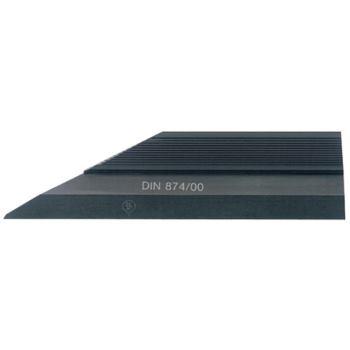Haarlineal nichtrostend 100 mm nach DIN 874-2
