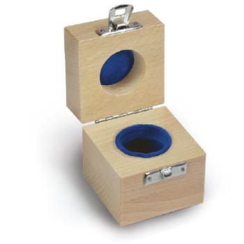 Holzetui 1 x 10 g / E1 + E2 + F1, gepolstert 317-