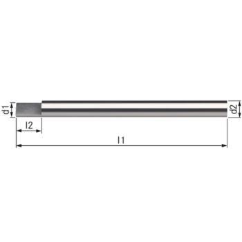 Gravierstichel HSSE 4,0x60 mm Form A