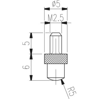 Messeinsatz Typ TN 11 W hartmetallbestückt