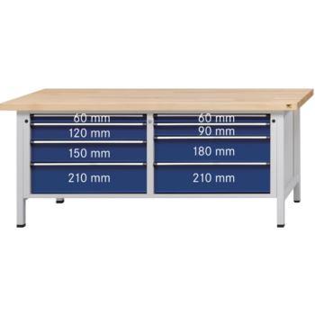 Werkbank Modell 141 VX Platte m. Zinkblechbel