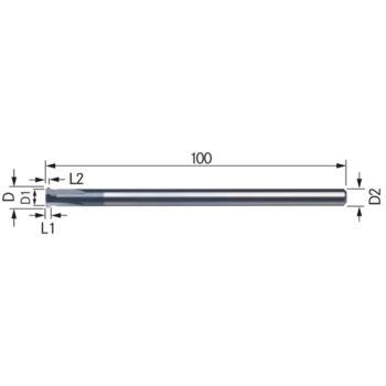 Vollhartmetall-Vor- und Rückwärtsentgrater Größe 1 2 90 Grad TiAlN-besch.