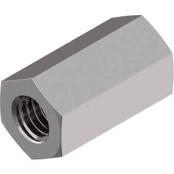 Sechskantmuttern DIN 6334 - Edelstahl A2 Höhe 3xd M 5