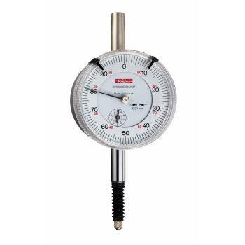 Messuhr 0,01mm / 10mm / 58mm / Stoßschutz / ISO 463 - DIN 878 wassergeschützt 10018