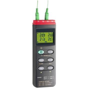 4-Kanal Temperatur-Messgerät inkl. 2x Thermo