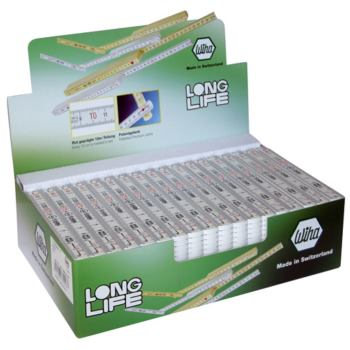 Longlife® Gliedermaßstab, Display, 54-tlg.