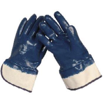 Schutzhandschuhe Nitril-Vollbeschichtet, blau, Grö