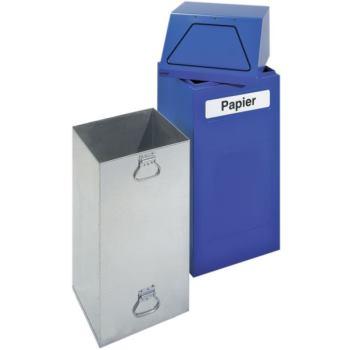 Wertstoffsammler 65 Liter enzianblau HxBxT 970x405