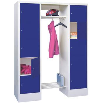 Schließfach-Garderoben, H x B x T 1850x1800x500 mm