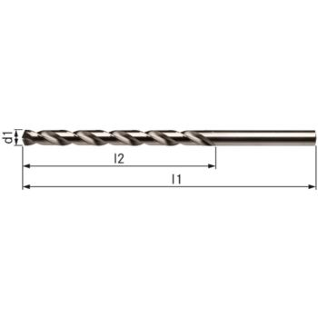 Spiralbohrer DIN 340 3,7 mm Typ VA HSSE