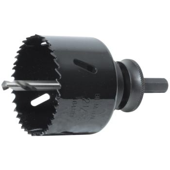Lochsäge HSS Bi-Metall 21 mm Durchmesser ohne Scha ft
