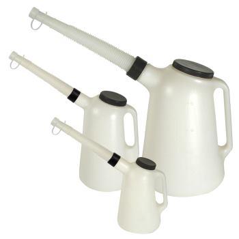Kunststoff-Flüssigkeitsmaß-Set Typ J-PE 1 + 2 + 5