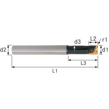 Wechselplatten-Gesenkfräser GWV 12x46x150 mm