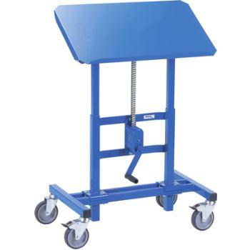 Materialständer höhenverstellbar per Kurbel Höhe 655-1025 mm, Tragfähigkeit 250 kg Ladefläche 750 x