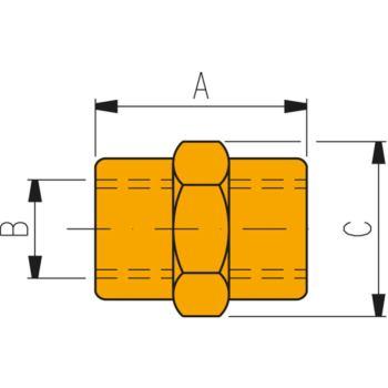 Hochdruckverschraubung FZ 1614 Verbindungsmuffe