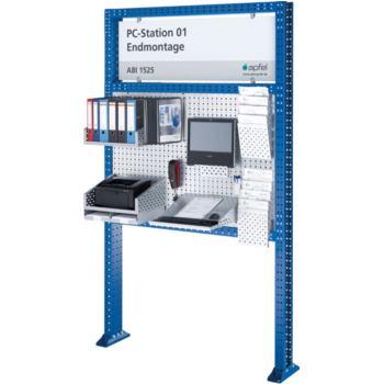 Arbeitsinsel 1525 Set PC BxHxT 1490x2500x140