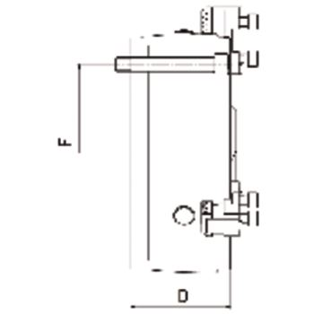 DURO-T A 160, 3-Backen, Zylindrische Zentrieraufnahme, einteilige Umkehrbacken