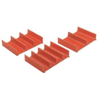 Muldenplatten aus ABS 150 x 150 x 29 mm mit 3 M