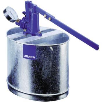 URACA Prüfpumpe HP 300 mit Behälter und Manometer