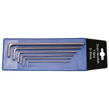 Sechskantschraubendreher 8-teilig 2-10 mm vernicke lt in Plastiktasche