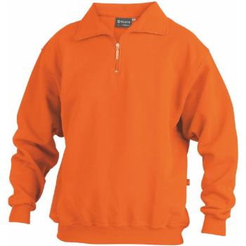 Sweatshirt Zip orange Gr. 6XL