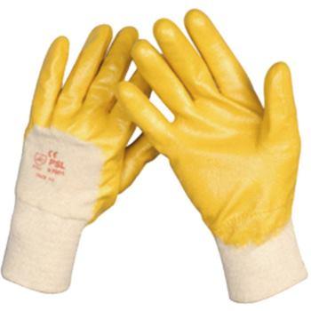 Schutzhandschuhe Nitrilbeschichtet, gelb, Größe 8