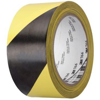 Warnmarkierungsband, Weich-PVC, schwarz/gelb B:50 mm x L:33 m