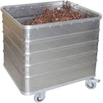 Transportwagen aus Aluminium Volumen 223 Liter L x