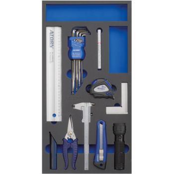Modul-Hartschaumeinlage Universalsatz 18-tlg. 293x 587x31mm schwarz/blau