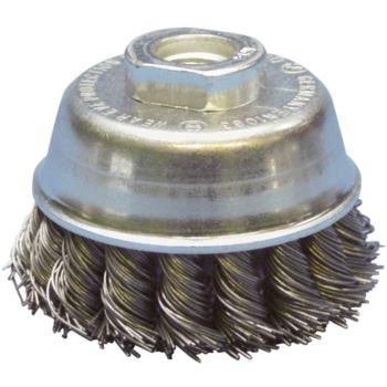 Topfbürste Durchmesser 65 mm, M14 Gezopfter Stahld raht 0,5 mm