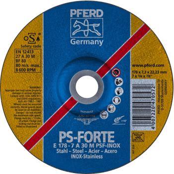 Schruppscheibe E 178-7 A 30 M PSF-INOX/22,23