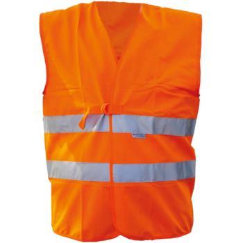 Textil-Warnweste leuchtorange mit Reflexstreifen